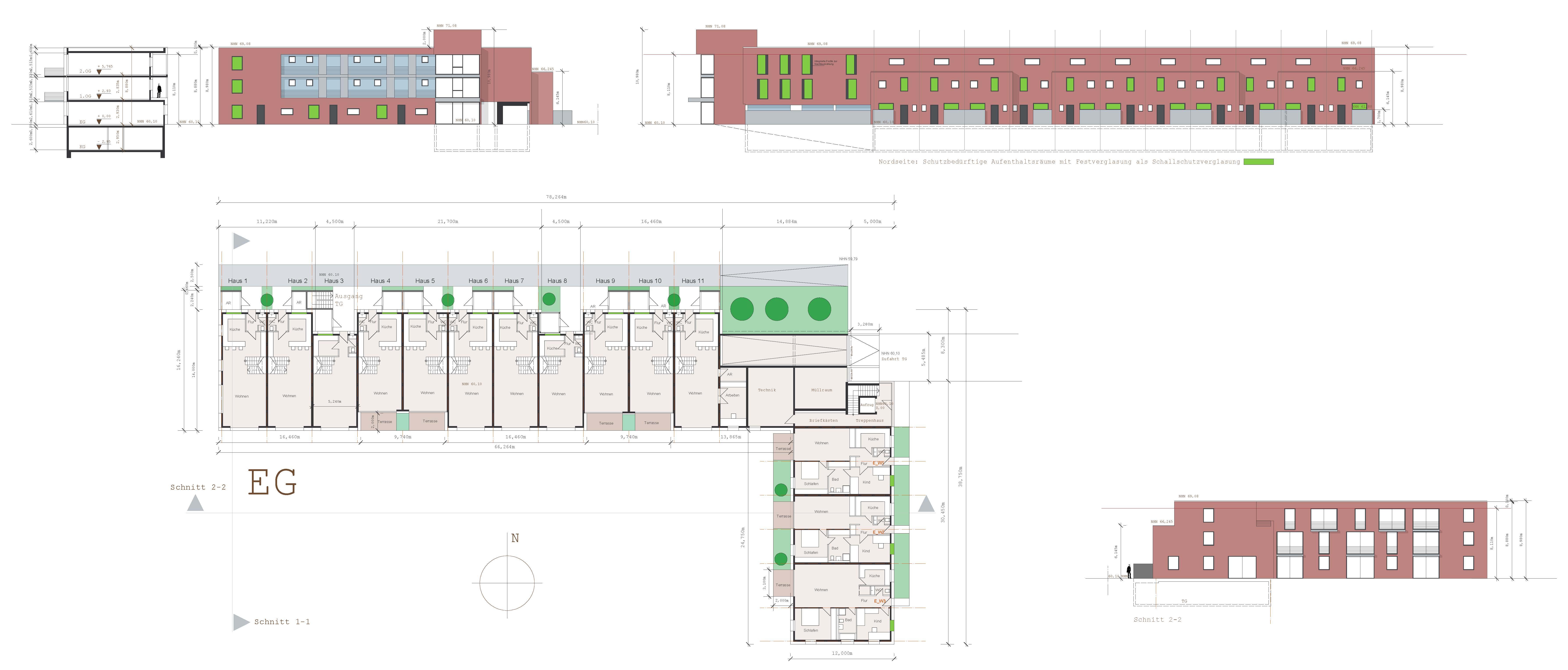 Wohnbebauung Deichhaus